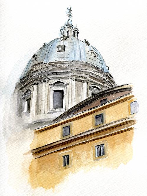 """Original 10""""x14""""  Rome, Italy"""