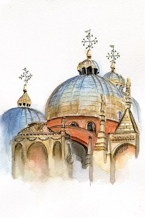 "Original 7""x9"" Doge's Palace Venice, Italy"