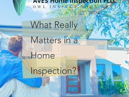 What Really Matters in a Home Inspection?