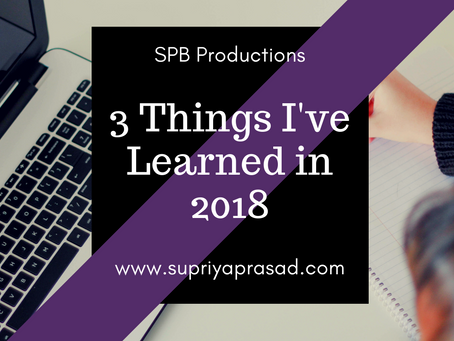 3 Things I've Learned in 2018