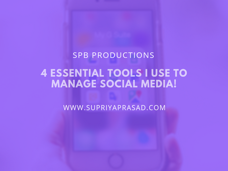 4 Tools I Use for Social Media Management!