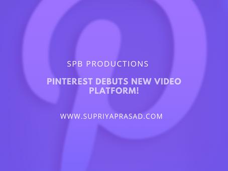Pinterest Takes on Videos!