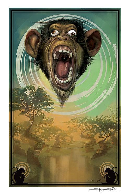 """""""Dizzy Monkey"""" print"""