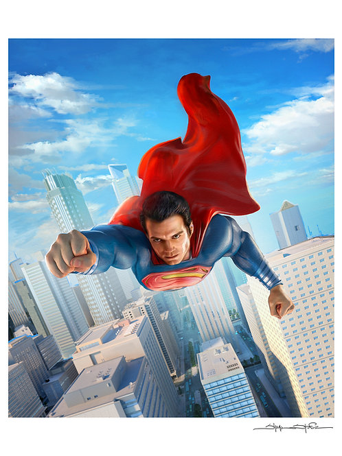 """Man of Steel"" print"