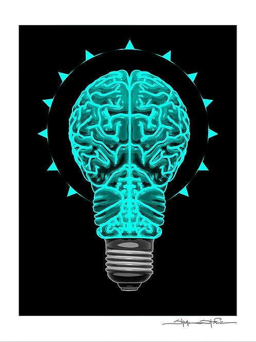 """Brain Bulb"" print"