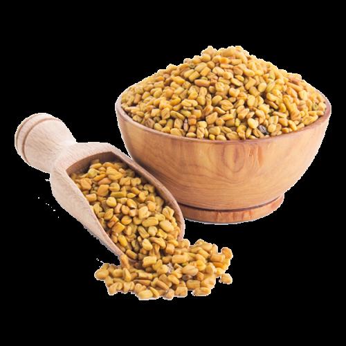fenu-greek seeds in a glass of water on an empty