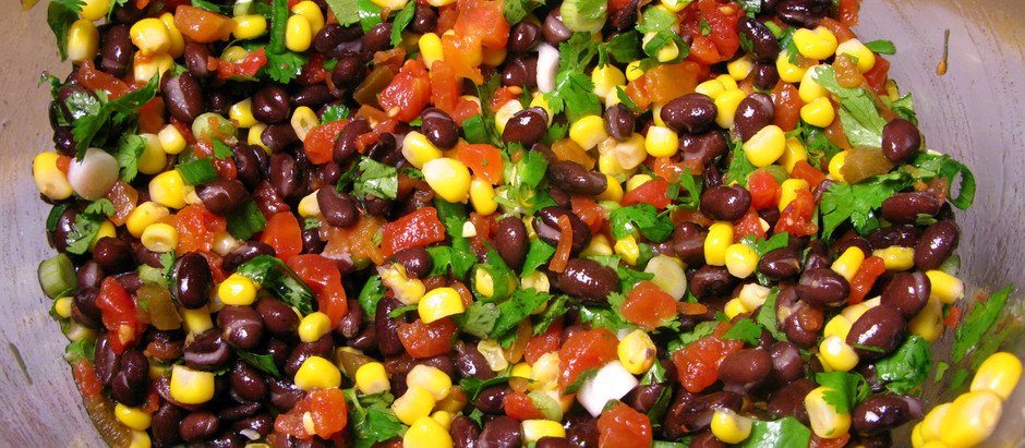 15 - Minute Black Bean Salad (serves a family or plenty of leftovers)