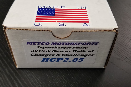 Metco Supercharger Pulley: 15+ Hellcat Charger/Challenger 2.85""