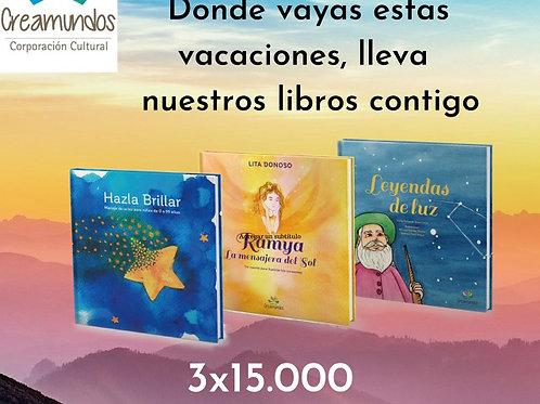 Pack tres libros infantiles Editorial Creamundos