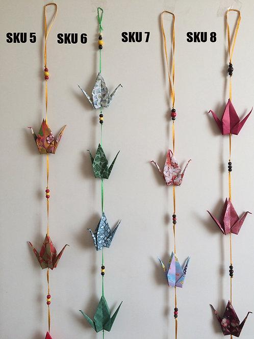 Colgantes decorativos grullas de Origami