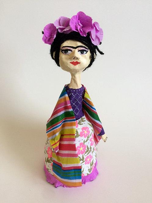Muñeca Frida de papel