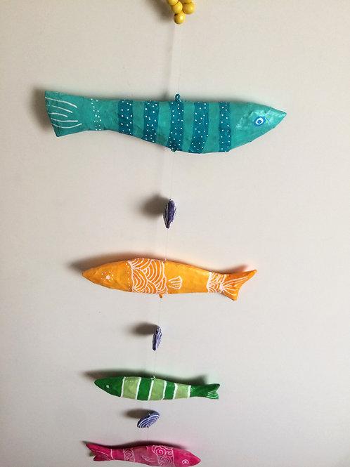 Colgante peces de colores