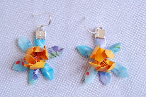 Aros Origami Flor de loto