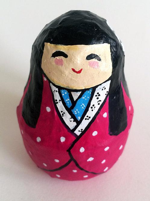 Figura japonesa Maiko Rosada