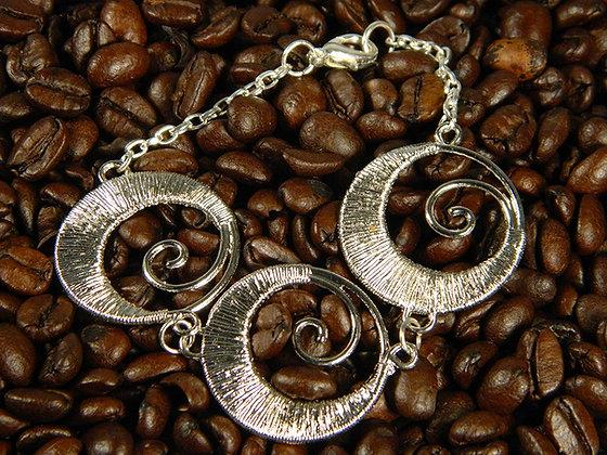 Silver Swirl Bracelet