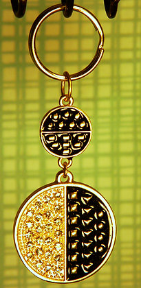 Medallion Rhinestone Key Chain
