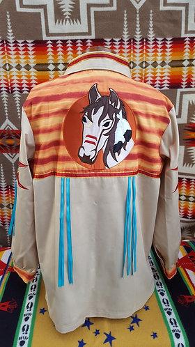Warrior Horse Native Ribbon Shirt