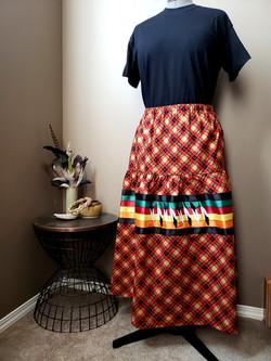 Feather ribbon skirt