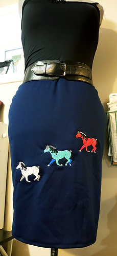 Warrior Horses Pencil Skirt