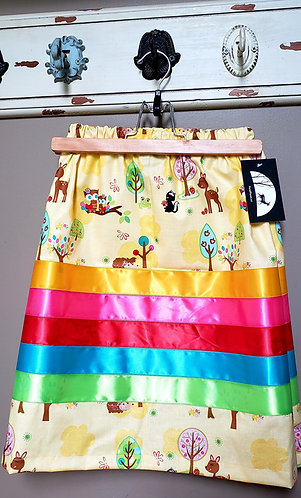 Kids Forest Critters Ribbon Skirt