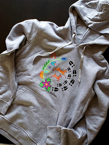 Doe and Fawn Grey Hoodie
