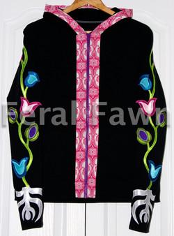 flower zip up hoodie