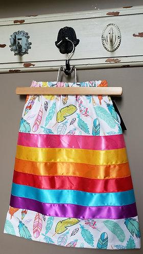 Toddler Feather Ribbon Skirt