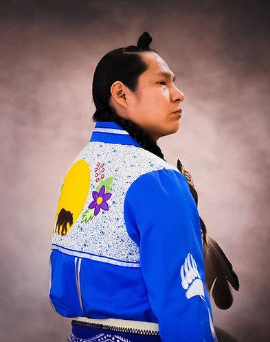 Bear Applique Native Ribbon Shirt
