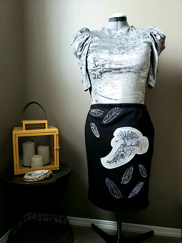 Eagle and Feathers Native Skirt