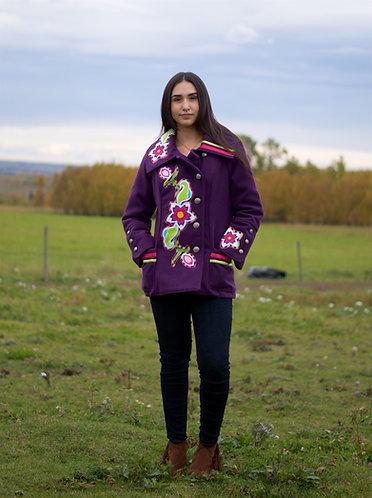 Native Style Applique Cashmere Jacket