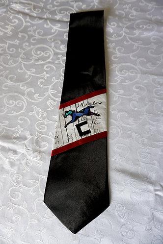 Blue Ledger Horse Necktie