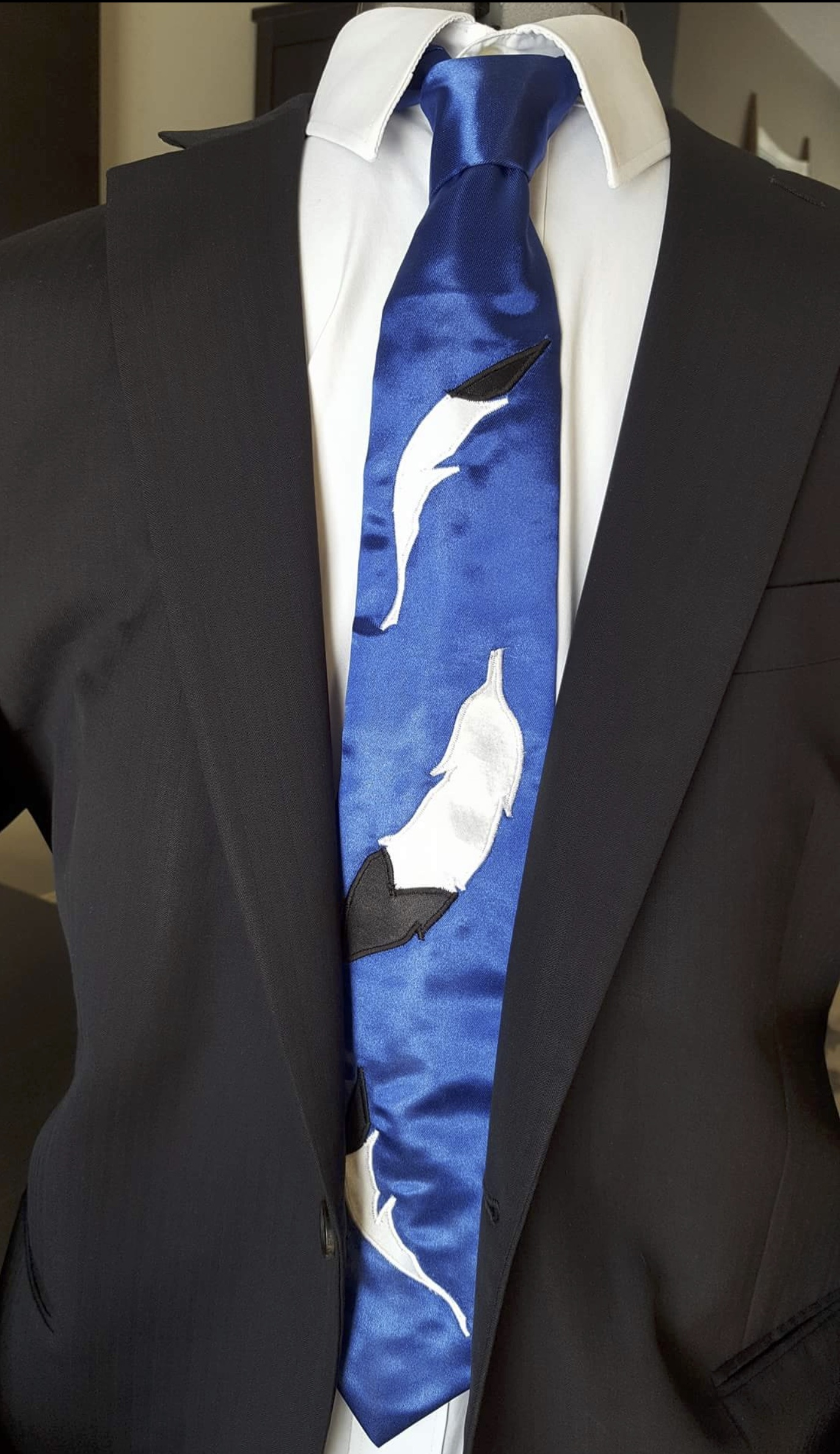 Blue Feather Tie