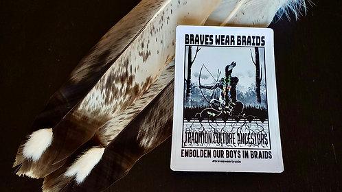 Braves Wear Braid Sticker