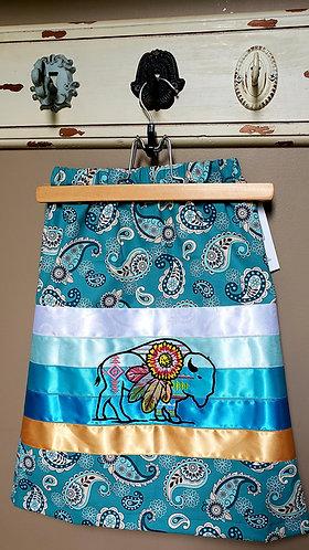 Toddler Bison Bandana Ribbon Skirt