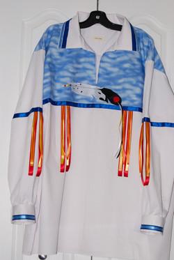 eagle feather ribbon shirt