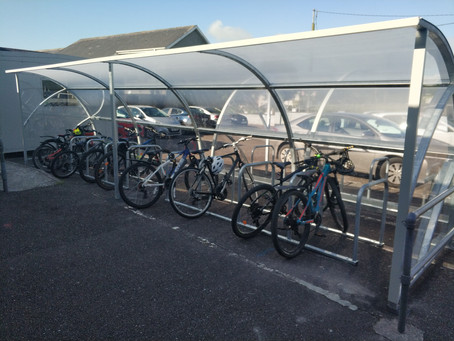 Green-Schools – Green Flag & New Bike Shelter