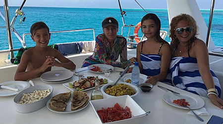 Lunch on board Zanzibar Charter Yacht