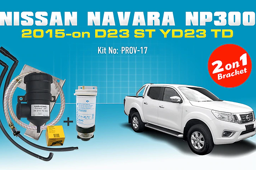 Nissan Navara 2015 NP300 - ProVent Oil Catch Can Dual Bracket Kit