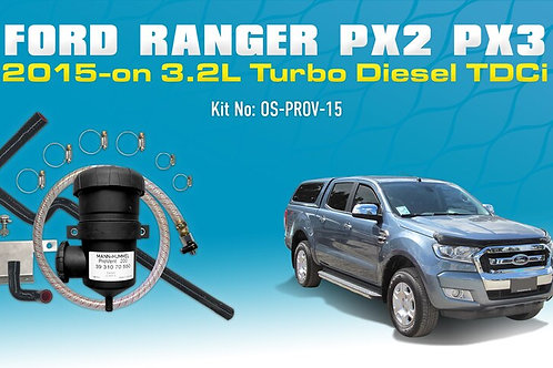 Ford Ranger PX2 PX3 2015-on - ProVent Oil Catch Can Filter Kit