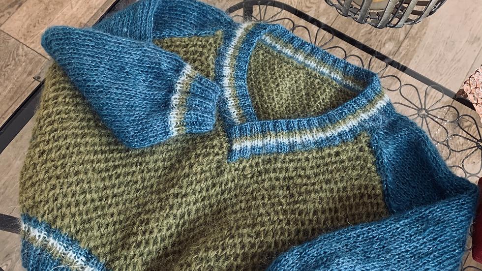 V-neck high school sweater