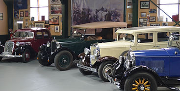 Collection of vintage and classic cars for hire