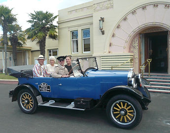 Get dressed up and ride in a vintage Art deco car