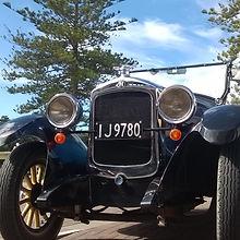 1925 Hupmobile basking in the Hawke's Bay sun