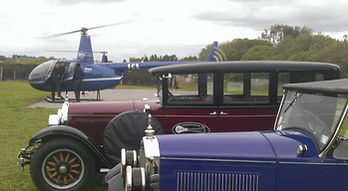 Vintage car and Helicopter ride