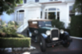 Old Dodge in front of the Hawke's Bay Club in Napier