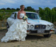 Classic Jaguar wedding car Hawkes Bay