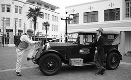 Old timer bridal car for Groom in Napier NZ