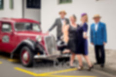 Art Deco family head out on classic car tour in Napier