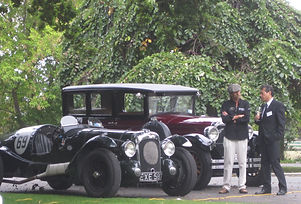 David Brock-Jest and his V12 Lagonda entertaining guests!