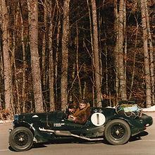 The V12 Lagonda Le Mans on a historic Rally